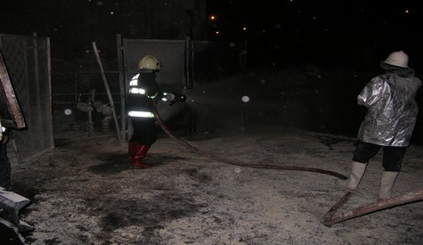 Akaryakıt İstasyonunda Yangın