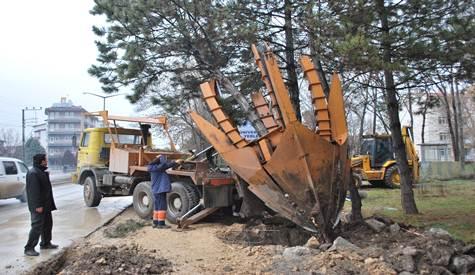 Ankara Bulvarında Yol genişletme çalışması Başladı