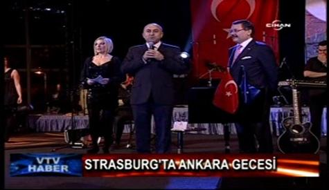 Strasburgda Ankara Gecesi