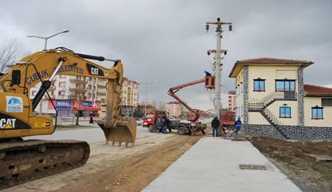 Ankara Bulvarında Elektrik Direkleri Kaldırılıyor