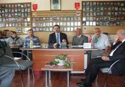Faruk Çelik Şehit Aileleri Federasyonunu Ziyaret etti