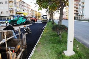 Ankara Bulvarı Asfaltlanıyor