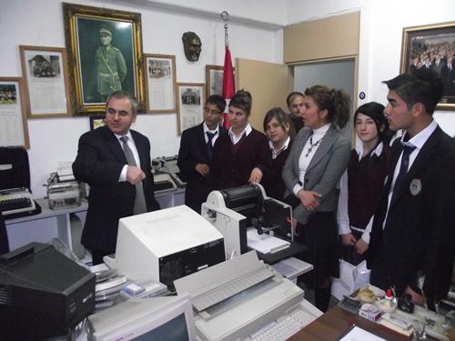 Ticaret Meslek Lisesi Ümit Aksoyu ziyaret etti