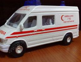 Öğrencilerden Maket Ambulans Sergisi