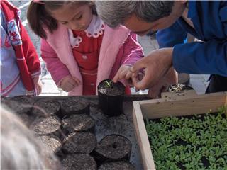 Anaokullarından çiçek seralarına ziyaret