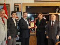 Satranç Federasyonu'ndan, Başkan Acehan'a Plaket