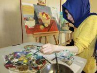 Çubuk'ta yağlı boya resim kursu açıldı