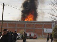 Madeni yağ fabrikasından yangın