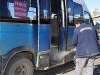 Dolmuş ve Halk Otobüsleri İlaçlandı