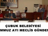 Çubuk Belediyesi Temmuz Ayı Meclis Gündemi