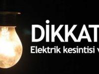 DİKKAT! Elektrik Kesintisi Olacak