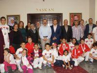 Sporculardan Çubuk Belediye Başkanı Acehan'a ziyaret