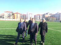 Altunsoy, Çubuk'ta spor yatırımlarını inceledi
