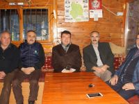 Çubuk Kaymakamı Şahin, esnafla ve gazetecilerle vedalaştı
