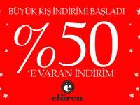 ELÖREN GİYİMDE % 50 İNDİRİM BAŞLADI