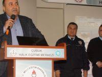 Çubuk'ta okul servis şoförleri bilgilendirildi