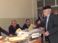 Çubuk'ta Yaşlılar Sandık Başına Gitti