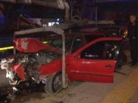 Çubuk'ta meydana gelen trafik kazasında 3 kişi yaralandı.