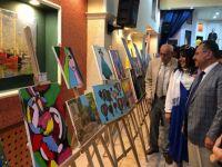 Çubuk'ta Öğrencilerden Resim Sergisi