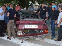 Çubuk'ta İki Otomobil Çarpıştı 4 Yaralı