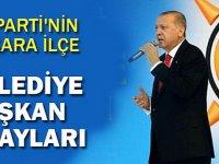 AK Parti'nin Ankara İlçe Belediye Başkan Adayları Belli Oldu