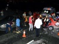 Çubuk'ta zincirleme kaza: 1 kişi hayatını kaybetti!