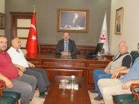 Çubuk'lu Gazeteciler Kaymakam Keleş'i Ziyaret Etti