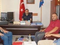 Yerel basın jandarma bölük komutanını ziyaret etti