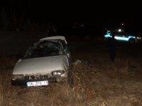 Çubuk'ta otomobil devrildi: 1 ölü