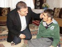 Başkan Demirbaş, Engellileri Evlerinde Ziyaret Etti