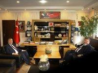 İlçe Emniyet Müdürü Çam'dan Belediye Başkanı Demirbaş'a veda ziyareti
