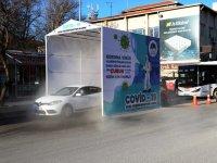 Çubuk'ta Araç Dezenfeksiyon Tüneli Açıldı