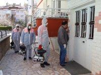 Çubuk'ta apartmanlarda ücretsiz dezenfekte çalışması başlatıldı