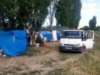 Çubuk'ta tarım işçilerinin kaldığı çadırlar dezenfekte edildi