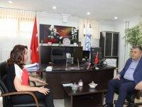 Çubuk Belediye Başkanı Demirbaş'dan SGK Müdürü Aldırmaz'a ziyaret