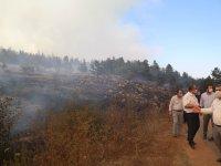 Karagöl'deki orman yangınına müdahale ediliyor