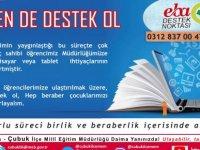 Çubuk'ta eğitime destek için kampanya