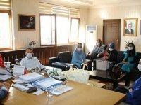 Çubuk'ta ilk kadın kooperatifinden belediyeye ziyaret