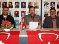 Çubuk'ta şehit yakınları Türk Kızılay'a yapılan saldırıyı kınadı
