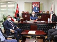 Çubuk'ta Keleş ve Demirbaş'tan, yeni Emniyet Müdürü Güzel'e ziyaret